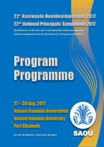 Program - 10 Augustus 2017