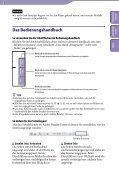 Sony NWZ-A847 - NWZ-A847 Istruzioni per l'uso Tedesco - Page 2
