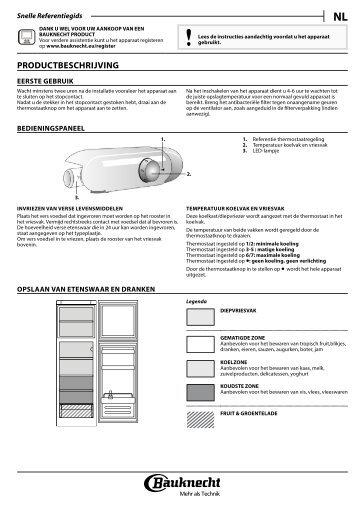 KitchenAid BDP28A+ - BDP28A+ NL (855035838000) Setup and user guide