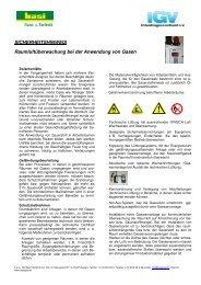 Raumluftüberwachung bei der Anwendung von Gasen