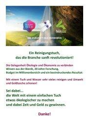 Plasmatuch - Die Zukunft des Reinigens - Petra Kaltner-Netzwerk für Pioniere