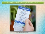 Read All the Labels When Choosing the Right Garden Seeds