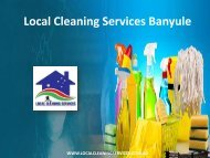 Local Cleaning Services Banyule
