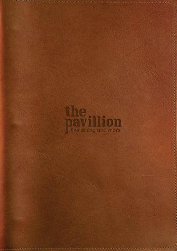 the pavillion menu _ demo 1