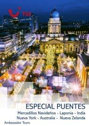 Catálogo TUI viajes ESPECIAL PUENTES