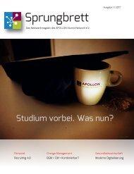 Sprungbrett - Das Netzwerkmagazin des APOLLON Alumni Network e.V. - 1/2017
