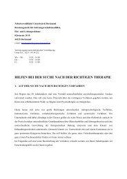 Hilfe bei der Suche nach der richtigen Therapie - AWO Dortmund