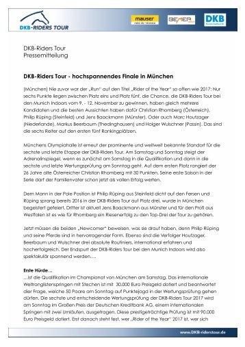 2017-11-07 DKB-Riders Tour - hochspannendes Finale in München