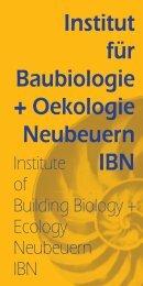 Building Biology - Institut für Baubiologie + Ökologie Neubeuern IBN