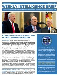 CIB Weekly Intelligence Brief | Vol. 01 | Iss. 04