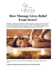 How Massage Gives Relief From Stress