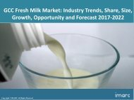 GCC Fresh Milk Market Share, Size and Forecast 2017-2022
