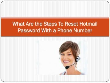 What Are the Steps To Reset Hotmail Password With a Phone Number