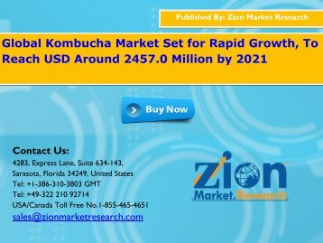 Kombucha Market to Approach USD 2457.0 Billion by 2022