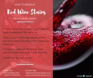 How to remove red wine stains from your carpet