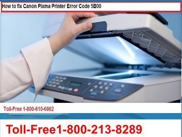 How to fix Canon Pixma Printer Error Code 5B00