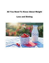 All You Need To Know About Weight Loss and Dieting