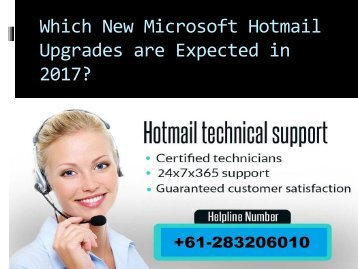 Which New Microsoft Hotmail Upgrades are Expected in 2017