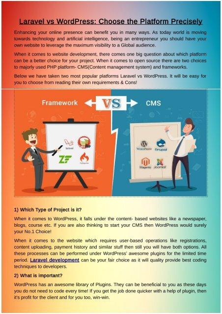 Laravel vs WordPress: Choose the Platform Precisely