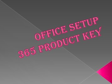 Office setup 365 Product key
