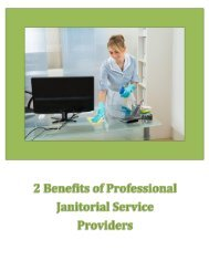 2 Benefits Of Professional Janitorial Service Providers