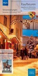 Veranstaltungskalender Kaufbeuren: Dezember 2017 / Januar 2018