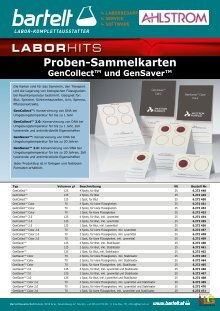 Flyer of the week Plasmidreinigungs-KITS Bartelt