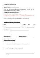 Volunteer Application Form - Page 2