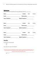 Volunteer Application Form - Page 3