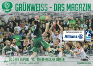 GRÜNWEISS - das Magazin der SC DHfK Handballer - Saison 2017/18