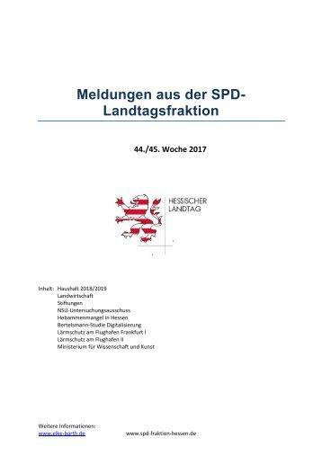 Meldungen aus der SPD-Landtagsfraktion (2)