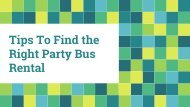 Tips To Find the Right Party Bus Rental