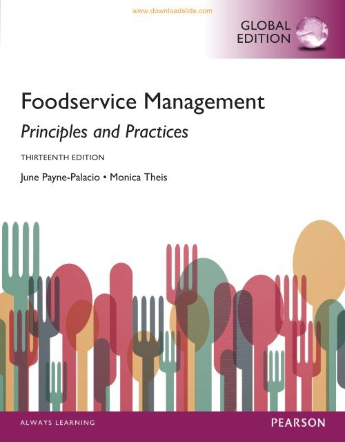 Foodservice Management Principles and Practices (13th Edition)