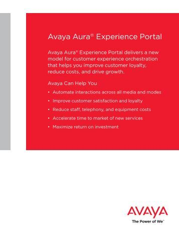 Avaya Aura® Experience Portal Brochure