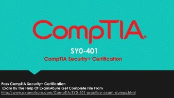 SY0-401 Exam Dumps