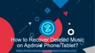 How to Recover Deleted Music on Android PhoneTablet