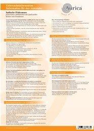 Information für den Anwender - AURICA Naturheilmittel und ...