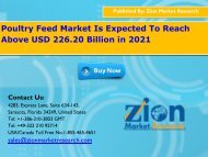 Global Poultry Feed Market, 2015 – 2021