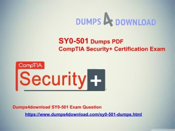 SY0-501 Free Updates & CompTIA Security+ - Dumps4download.com