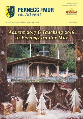 Pernegg im Advent 2017 und Fasching 2018