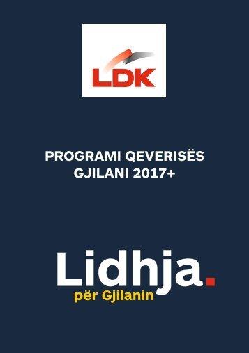 PROGRAMI QEVERISËS GJILANI 2017+