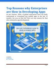 Why are enterprises slow in developing mobile apps despite of so much demand