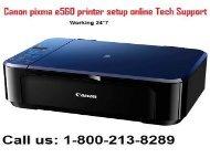 How to download Canon PIXMA E560 Printer driver? 1-800-213-8289