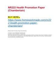 NR222 Health Promotion Paper (Chamberlain)