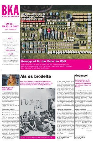 Berner Kulturagenda 2017 N° 45