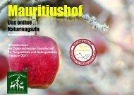 Mauritiushof Naturmagazin November 2017