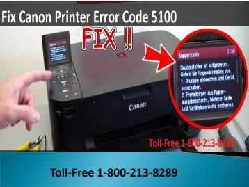 1-800-213-8289 How to Fix Canon Printer Error Code 5100