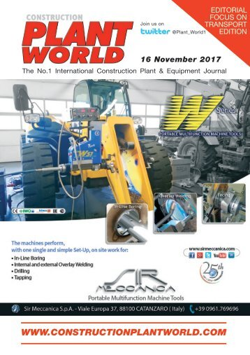 Construction Plant World 16th November 2017