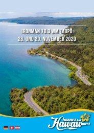 Hannes Hawaii Tours - IM 70.3 WM Taupo 2020 DE