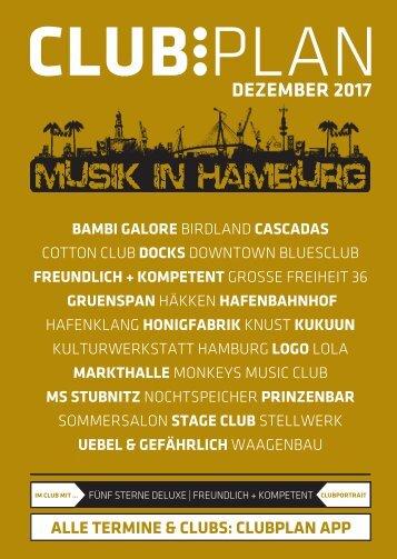 Clubplan Hamburg - Dezember 2017